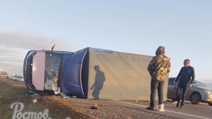 Видео смертельного столкновения «Газели» с иномаркой под Ростовом появилось в Сети