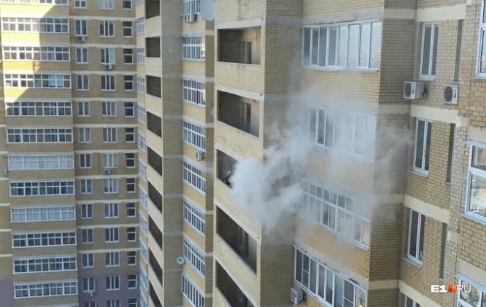 Пожар произошел в квартире на 11 этаже