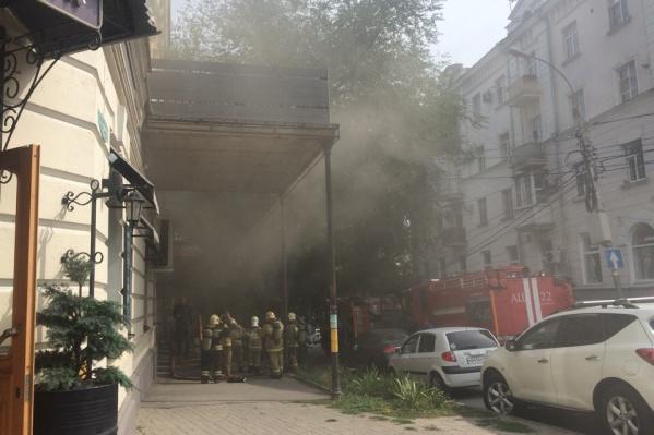 Пожар произошел в центре города