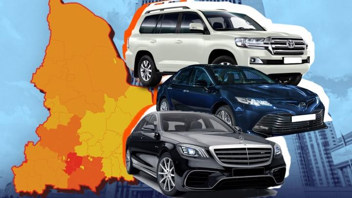 ВИП-гараж: изучаем три сотни элитных авто, купленных свердловским чиновникам за бюджетный счет