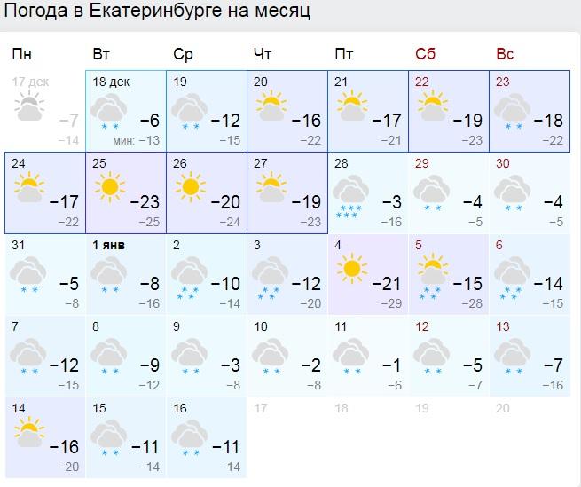 Мороз и немного снега: метеорологи предсказали, какой будет в Екатеринбурге новогодняя ночь