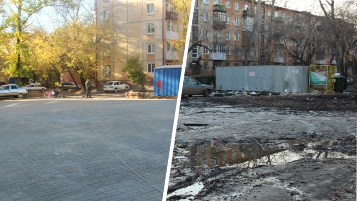 Омичка сняла дворы в Нефтяниках до и после благоустройства: жители остались довольны ремонтом