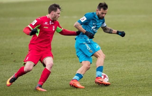 «Уфа» сыграла контрольный матч с питерским «Зенитом»