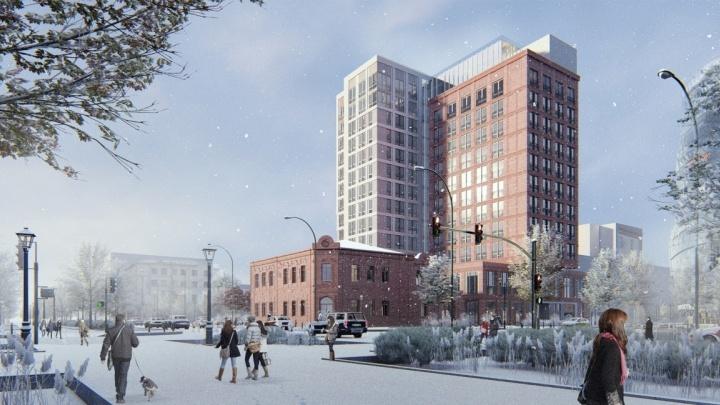 На пустыре около часовни на Красном проспекте построят роскошную гостиницу высотой 14 этажей
