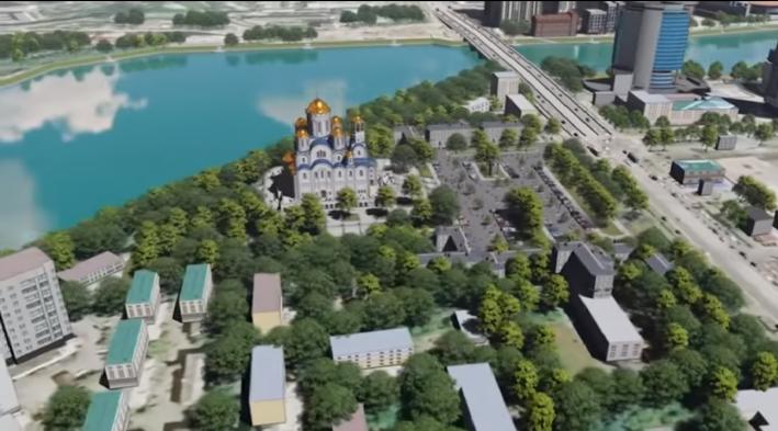 Так храм может выглядеть, если его построят за Макаровским мостом