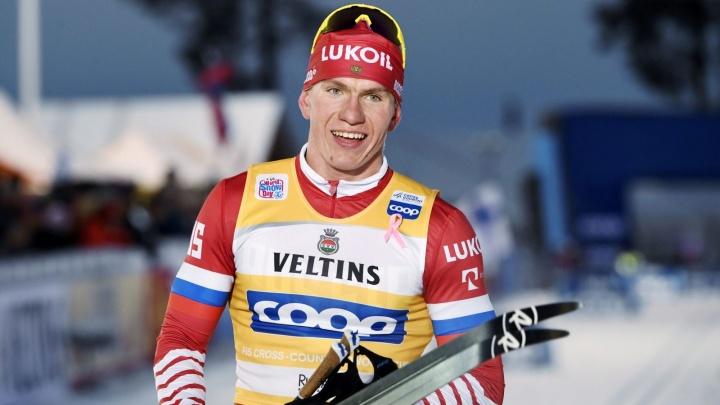 Тюменский лыжник Александр Большунов стал лучшим среди россиян на масс-старте Тур де Ски-2019
