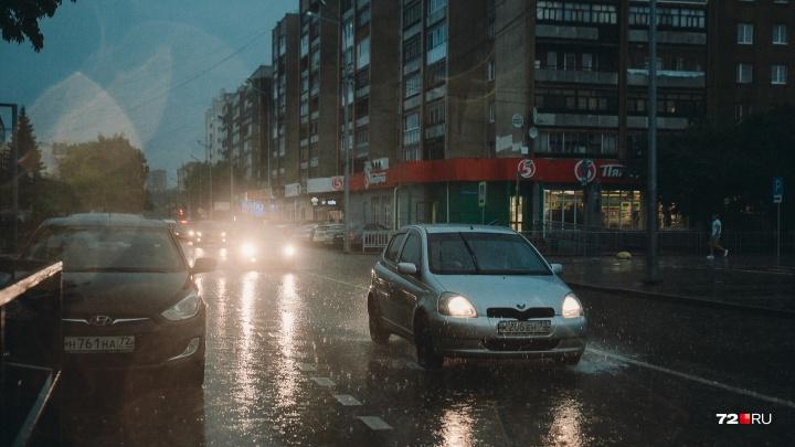 Синоптики предупреждают тюменцев об очень сильном дожде и ветре