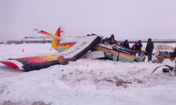 Самолёт совершил жесткую посадку сегодня утром