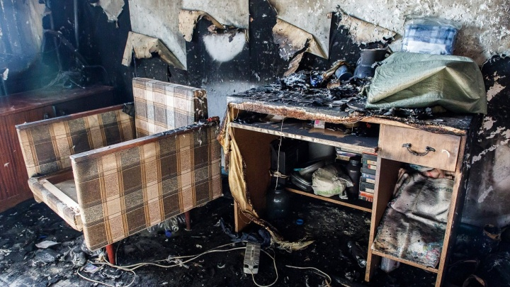 Прикованная к постели женщина погибла на пожаре в Волгоградской области