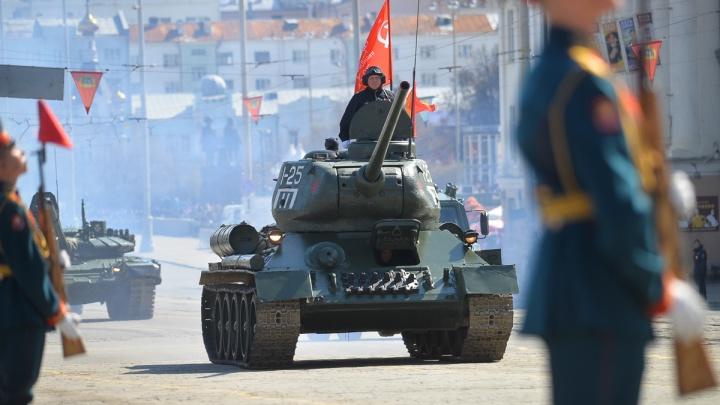 В параде Победы в Екатеринбурге пройдут 2259 военных и проедут 78 боевых машин