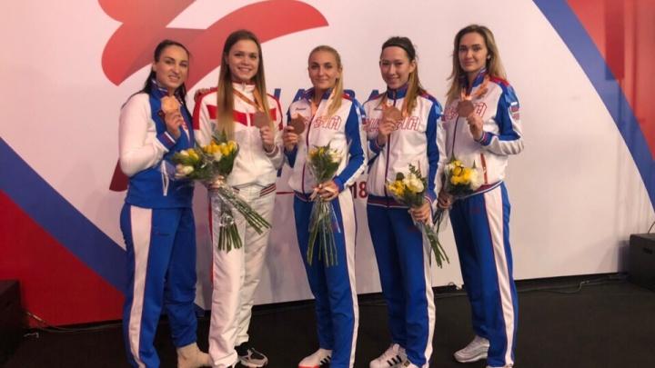 «Темп боя непривычный»: челябинки взяли бронзу в командном чемпионате мира по тхэквондо