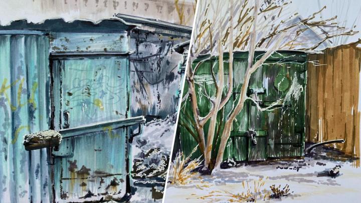 «Скоро мы утратим эту обшарпанную романтику»: красноярская художница создала коллекцию картин с гаражами