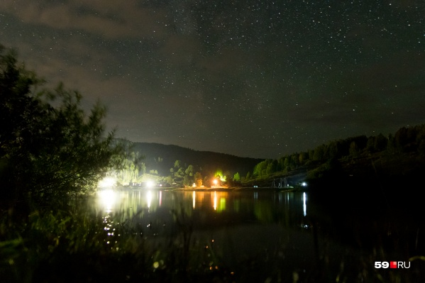 Звезды над базой отдыха на Вишере