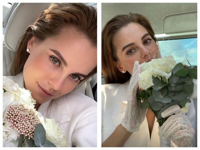Первые свадебные фото Клюкина выложила в инстаграм-историях