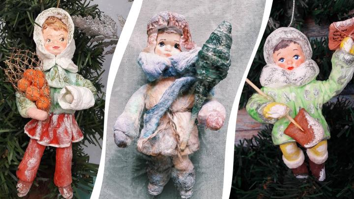 Бывший омский медик создаёт ватные игрушки. Такими украшали ёлки в СССР