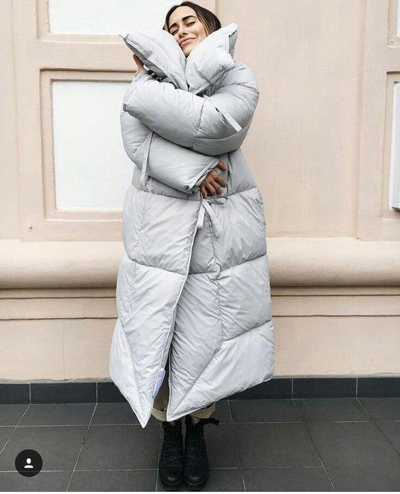 Завернуться в пуховик-одеяло — не только полезно, но и модно