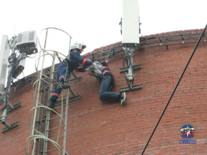 Спасатели использовали альпинистское снаряжение