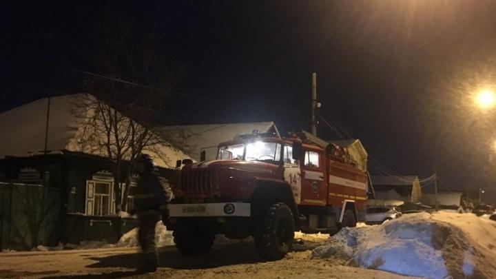 Этим утром в тюменском селе сгорел частный дом. 64-летний мужчина погиб