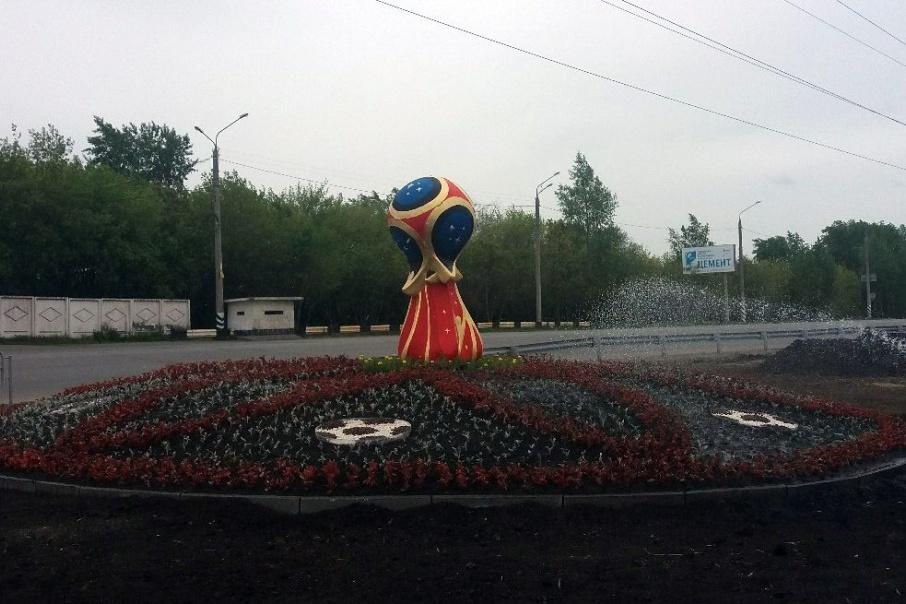 Одинокий символ ЧМ на въезде в город – всё, что связывает Челябинск с мундиалем