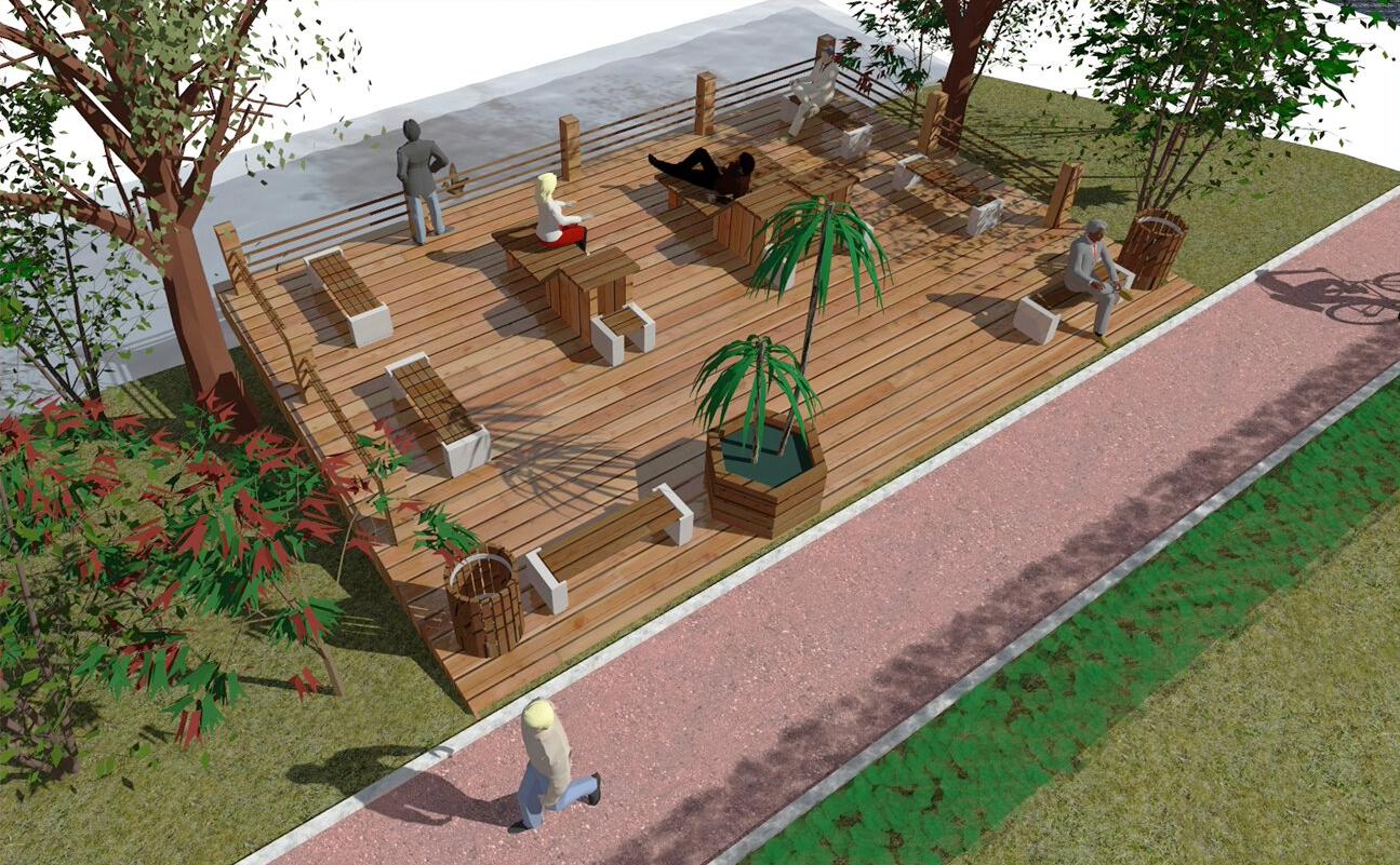 Террасу для отдыха построят из дерева