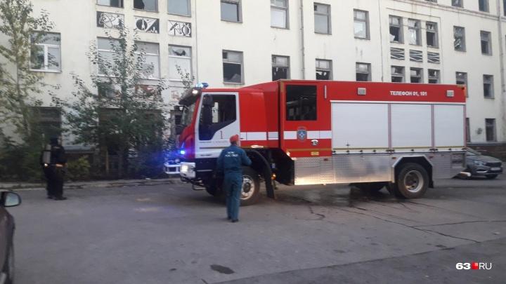 Очевидцы: в Самаре опять горел Дом печати