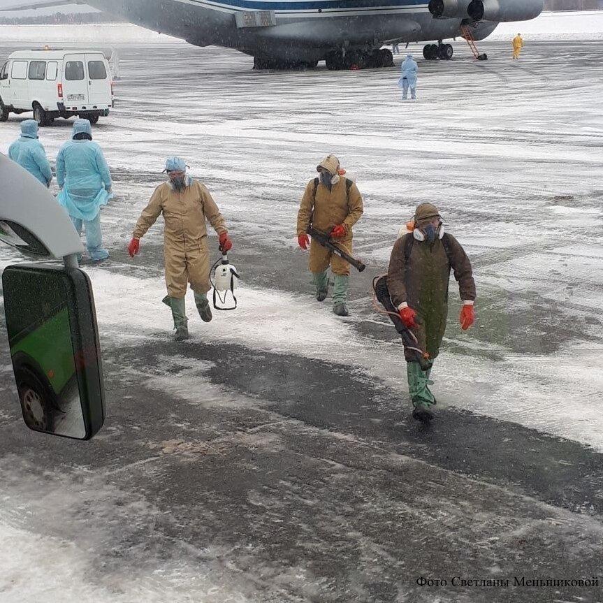 Весь багаж, самолёты и автобусы обработают дезинфицирующими средствами
