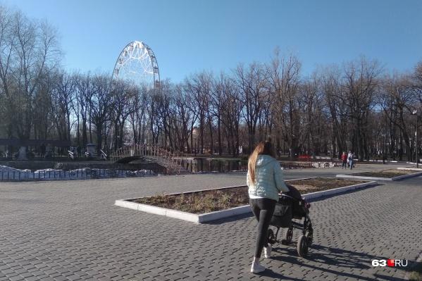 Прогулки в парках особенно хороши, когда на улице тепло