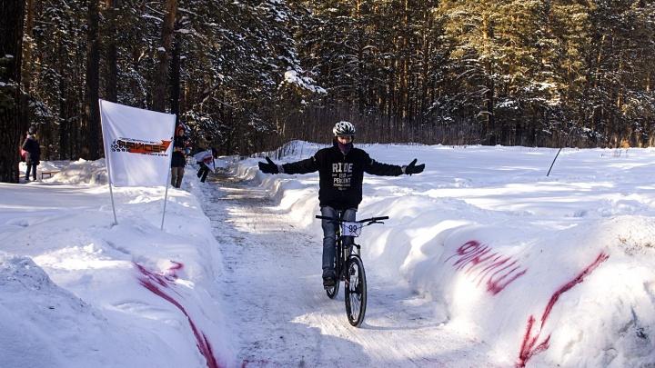 Занесло не по-детски: новосибирцы дрифтовали на велосипедах в Заельцовском парке
