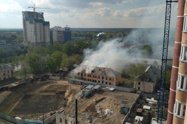 Пожар на ул. Плановой