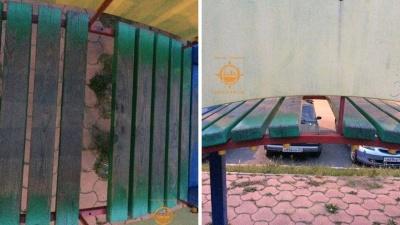 Видео: на Петрушина ребенок провалился и застрял в дыре на горке детской площадки