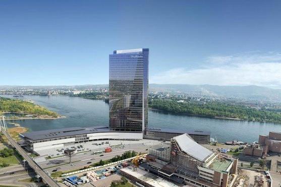 Проект создан много лет назад красноярскими архитекторами, но не имеет отношения к Красноярск-Сити