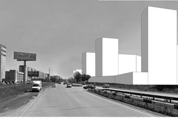 Так выглядит объемная модель нового квартала с Металлургов