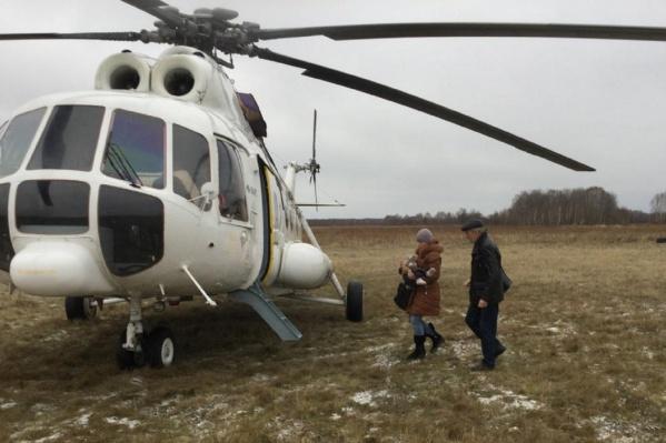 Ребенка доставили в больницу за полтора часа