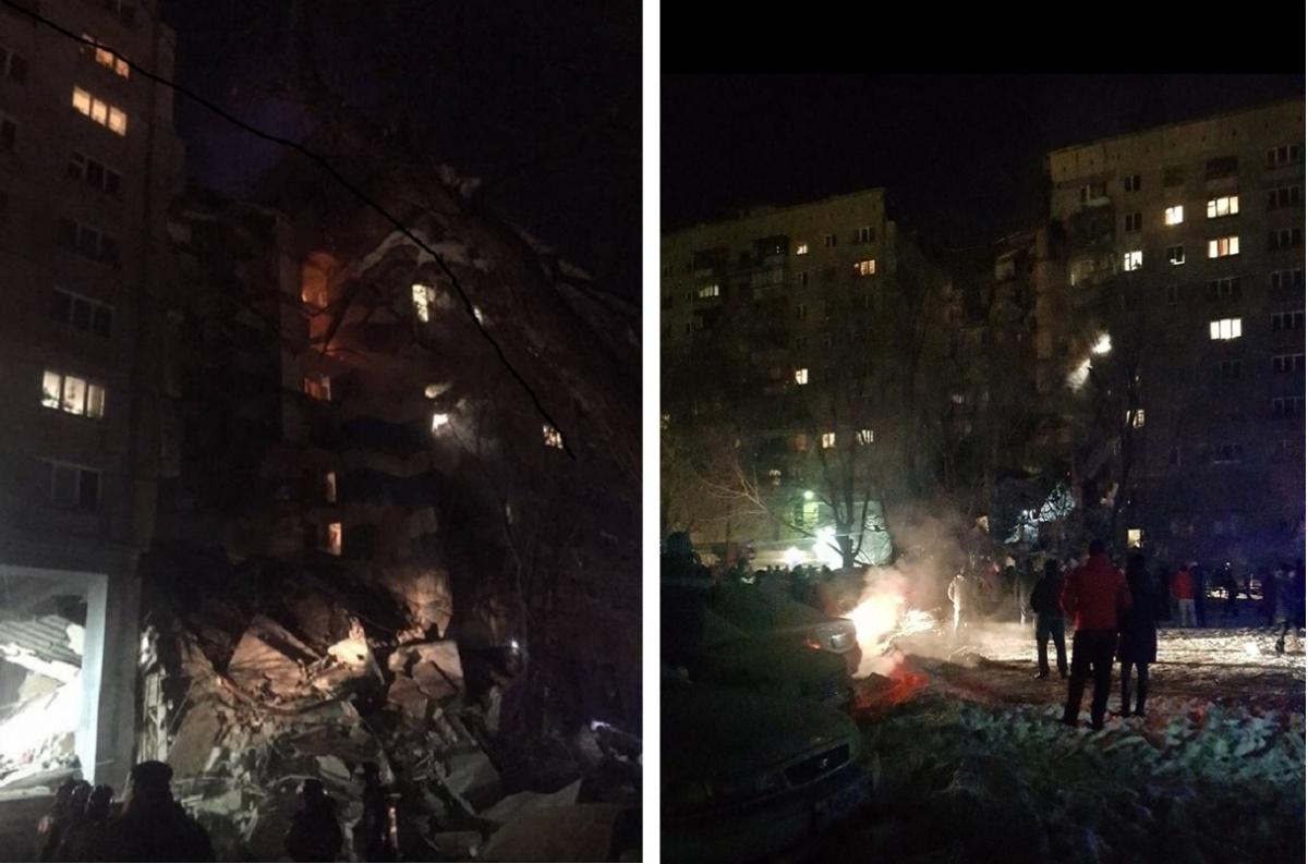 К месту взрыва в 6 часов утра сбежались жильцы соседних домов