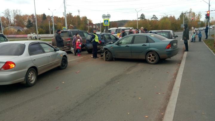 Серьезная авария в Уфе: пьяный водитель протаранил машину с ребенком