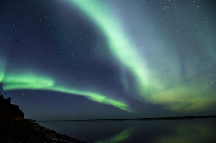 А вот так небо сияло в ночь со 2 на 3 сентября