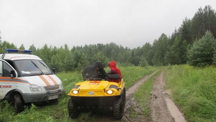 «Несли три километра по лесу»: в Прикамье спасли мужчину, который травмировал ногу бензотриммером