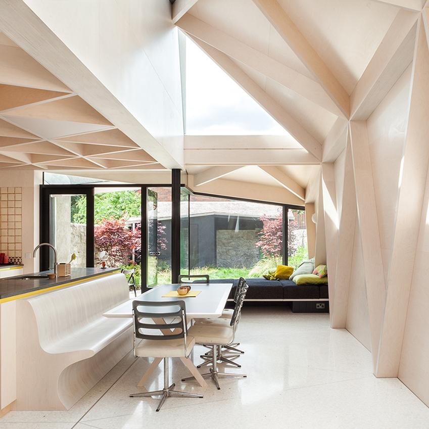 Кухня-столовая в проекте ирландского бюро NOJI Architects