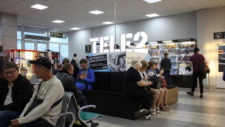 Tele2 установила зарядную станцию в аэропорту Емельяново