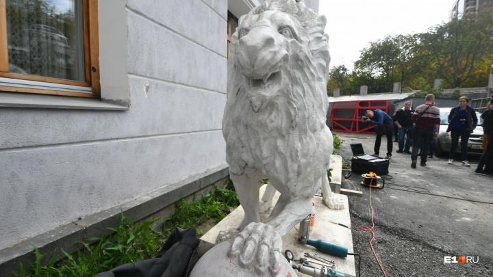 Назад, в 40-е: реставраторы создадут 3D-модель львов за Оперным, чтобы вернуть им первоначальный вид