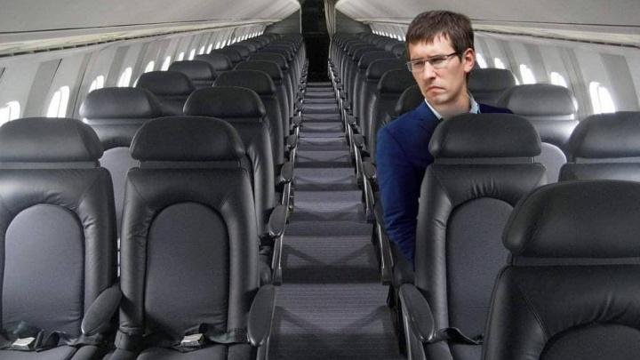 Первый рейс из Челябинска в Екатеринбург отменили, потому что там был всего один пассажир