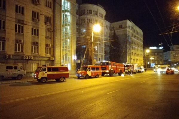 Возгорание произошло в крыле здания на Воровского, 2, где находится комитет градостроительства и архитектуры