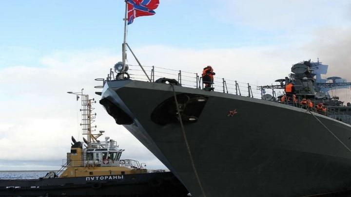 В порт Дудинки прибыли военные корабли для проведения тактических учений