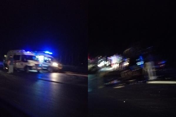 На участке трассы, где произошла авария, было очень темно