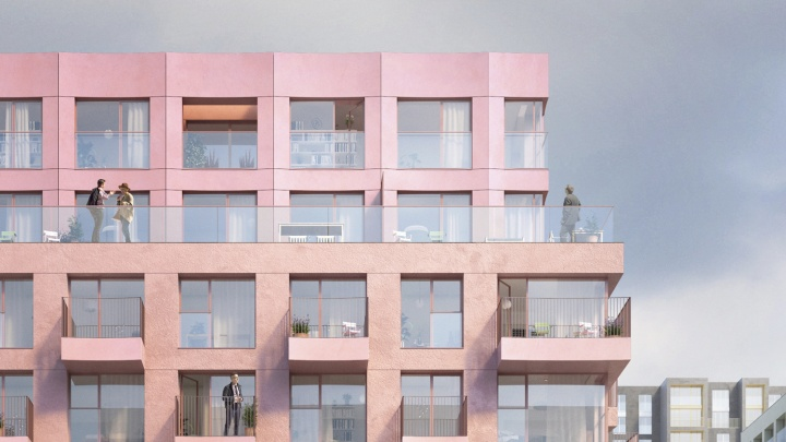 Голландские квартиры с окнами в ванных комнатах строят в центре Новосибирска