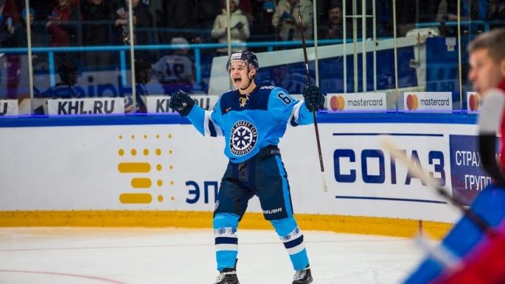 Молодой нападающий «Сибири» стал лучшим новичком недели в КХЛ