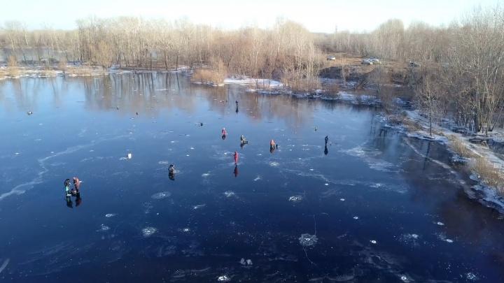 Ловись, рыбка! В Самарской области рыбаки вышли на первый лёд