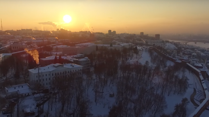 «Зимний вечер в Нижнем Новгороде». Смотрим красивое видео вместе
