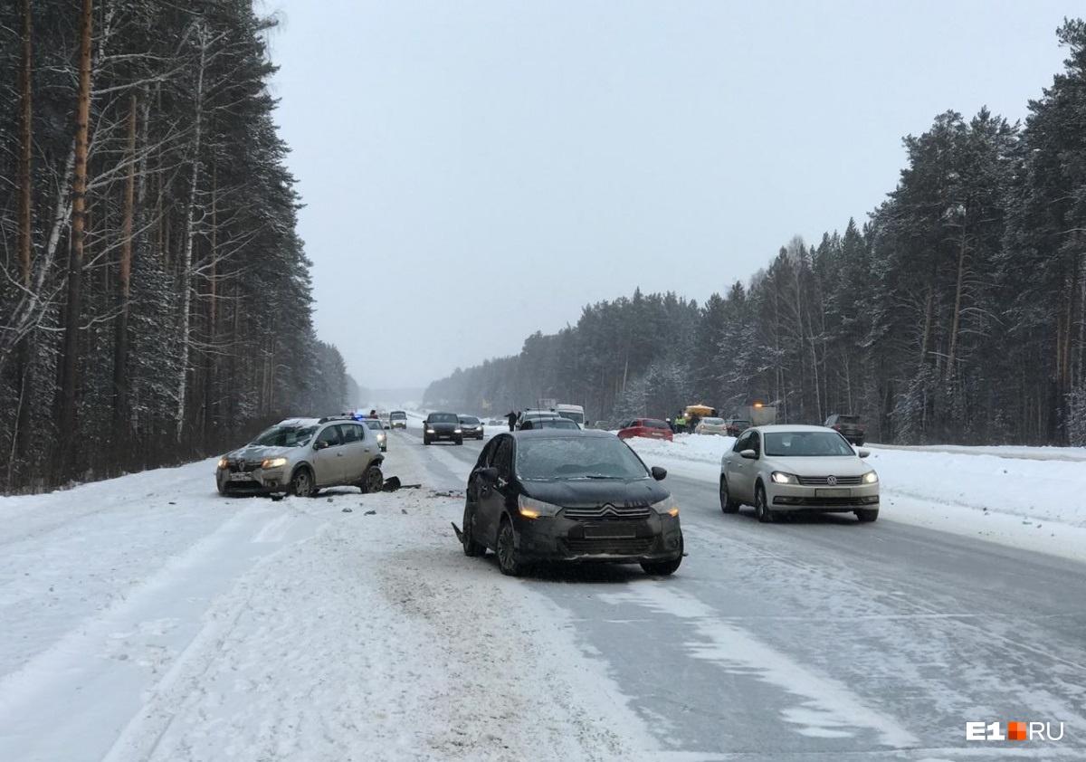 Массовая авария  на Челябинском тракте