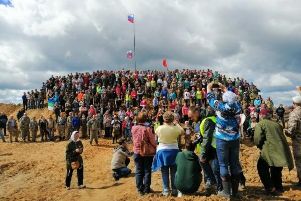 Около 500 человек прибыли на Шиес накануне прямой линии с президентом